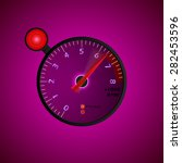 tachometer with flash on a dark ... | Shutterstock .eps vector #282453596
