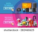 household appliances vector... | Shutterstock .eps vector #282460625
