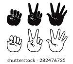 set of vector human hand  icons ... | Shutterstock .eps vector #282476735