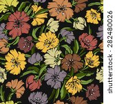 seamless flowers pattern.... | Shutterstock .eps vector #282480026