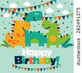 happy birthday   lovely vector... | Shutterstock .eps vector #282491375