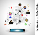the concept of social network... | Shutterstock . vector #282491846