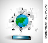 concept of internet technology   Shutterstock . vector #282492092