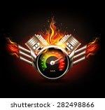 racing background  speedometer... | Shutterstock .eps vector #282498866