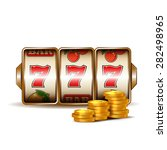 casino slot machine with coins. | Shutterstock .eps vector #282498965