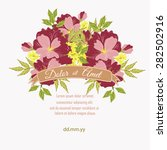 invitation card with floral... | Shutterstock .eps vector #282502916