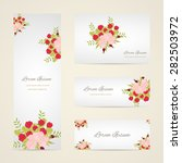 invitation card with floral... | Shutterstock .eps vector #282503972