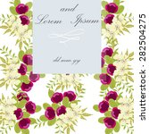invitation card with floral... | Shutterstock .eps vector #282504275