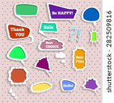 set of 3d color speech bubbles | Shutterstock .eps vector #282509816