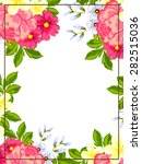 abstract flower background with ... | Shutterstock . vector #282515036