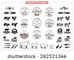 butchery logo  labels  charts... | Shutterstock .eps vector #282521366