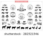 butchery logos  labels  charts... | Shutterstock .eps vector #282521546