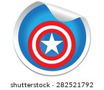 Постер, плакат: Captain America Shield sticker Vector