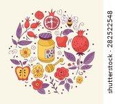 jewish holiday rosh hashana ... | Shutterstock .eps vector #282522548