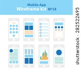 mobile app wireframe ui kit 14. ...