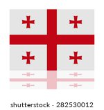 reflection flag georgia  | Shutterstock .eps vector #282530012