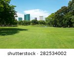city park at vachirabenjatas... | Shutterstock . vector #282534002