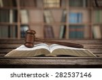 legal system  law  gavel. | Shutterstock . vector #282537146