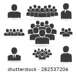 crowd of people in team icon... | Shutterstock .eps vector #282537206