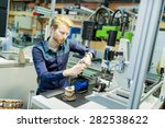 young man in electronics... | Shutterstock . vector #282538622