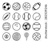 set of sports balls | Shutterstock .eps vector #282539246
