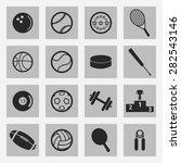 vector black sports icons set   Shutterstock .eps vector #282543146