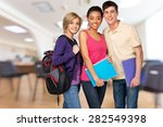 student  teenager  college... | Shutterstock . vector #282549398