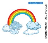 doodle clouds and rainbow  hand ... | Shutterstock .eps vector #282549968