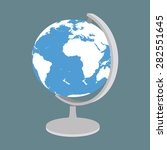 vector earth globe icon | Shutterstock .eps vector #282551645