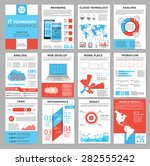 big set of infographics... | Shutterstock .eps vector #282555242