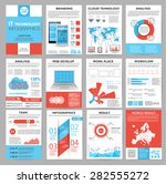big set of infographics... | Shutterstock .eps vector #282555272