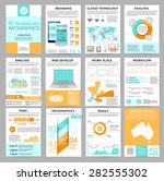 big set of infographics... | Shutterstock .eps vector #282555302