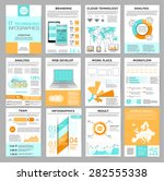 big set of infographics... | Shutterstock .eps vector #282555338