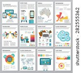 big set of infographics... | Shutterstock .eps vector #282555362