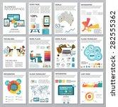 big set of infographics... | Shutterstock .eps vector #282555362