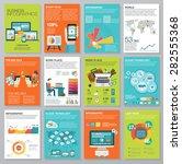 big set of infographics... | Shutterstock .eps vector #282555368
