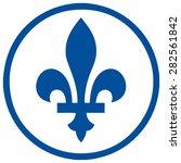 Quebec Sign Fleur De Lis In A...