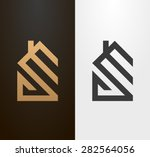 simple line house logo  icon.  | Shutterstock .eps vector #282564056