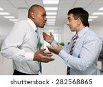 arguing  conflict  business. | Shutterstock . vector #282568865