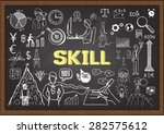 business doodles about skill on ... | Shutterstock .eps vector #282575612