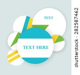 various circles in retro colors ... | Shutterstock .eps vector #282587462