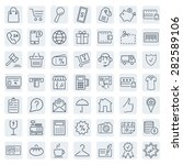 e commerce. outline web icons... | Shutterstock .eps vector #282589106