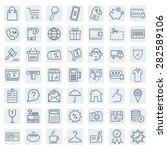 e commerce. outline web icons... | Shutterstock .eps vector #282589106