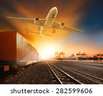 industry container trainst... | Shutterstock . vector #282599606