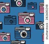 vintage camera vector pattern | Shutterstock .eps vector #282600248