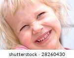 the little girl laughs and... | Shutterstock . vector #28260430