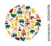 Sri Lanka Country Symbols Colo...