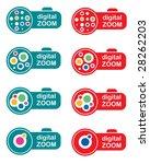 stamp digital zoom 3   Shutterstock .eps vector #28262203