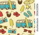 retro summer vacation seamless... | Shutterstock .eps vector #282622856