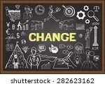 doodles about change on... | Shutterstock .eps vector #282623162